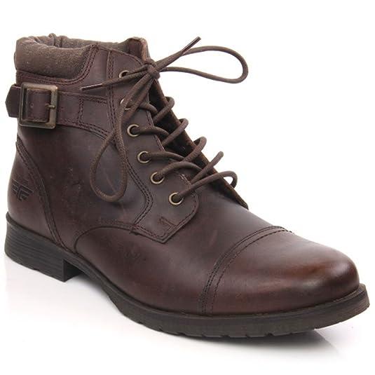 Red Tape - Botas de material sintético para hombre marrón marrón, color marrón, talla 41.5