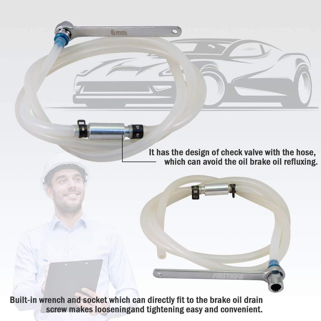 Ajuste Herramientas Mini 8 mm manguera de aceite embrague purgador de freno con llave y válvula de retención: Amazon.es: Coche y moto
