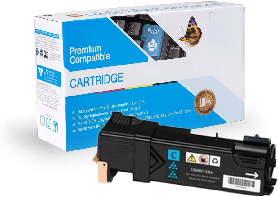 MS Imaging Supply Laser Toner Cartridge Cartridge Replacement for Xerox 106R01594 106R01591 Cyan, 2 Pack