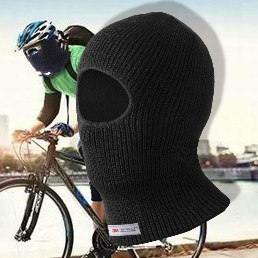 Winter Ski Neck Face Protection Mask Evridwear Thermal Double Or Single Layer Acrylic Knit One Hole Balaclava One Size