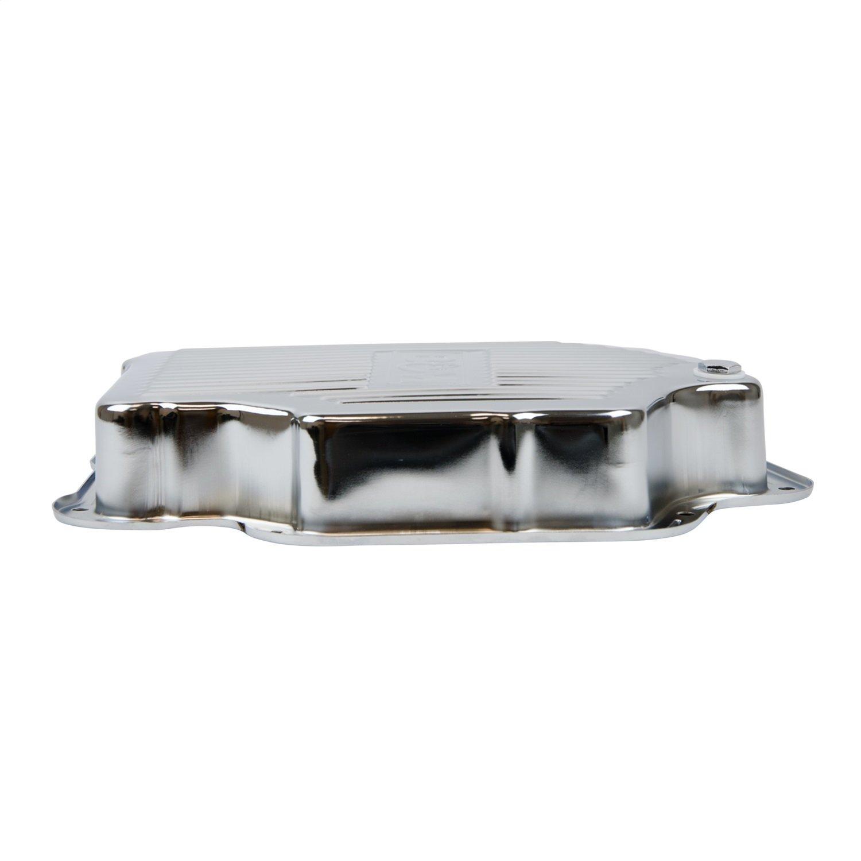 B&M 20289 Chrome Steel Extra Depth Transmission Pan