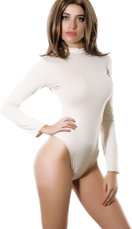 Toocool Body Donna Lupetto Dolcevita Manica Lunga Felpato Collo Alto Sottogiacca CC-1-1 Taglia Unica,Nero