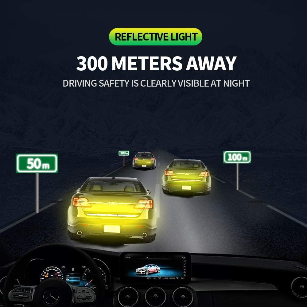casco parachoques o motocicleta. Cinta reflectante de 90 cm de alta visibilidad autoadhesiva resistente al agua moto cochecito coche perfecto para conducci/ón nocturna