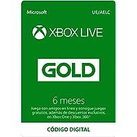 Suscripción Xbox Live Gold - 6 Meses   Xbox Live - Código de descarga