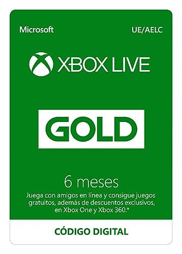 Suscripción Xbox Live Gold - 6 Meses | Xbox Live - Código de ...