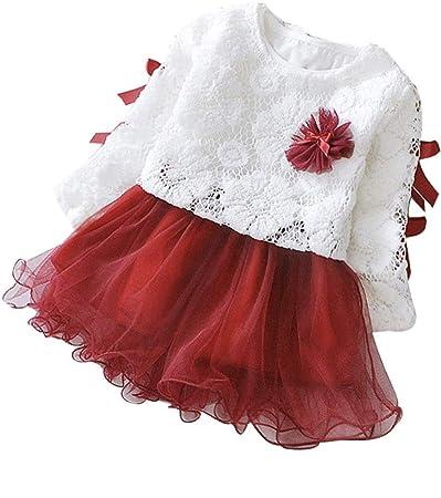 405c35032d Christmas Baby Girls Tutu Dresses Long Sleeves Princess Dress Infant Tulle  Dress Toddler Sundress (12