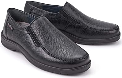 309e87a381 Amazon.com | Mephisto Mobils Ewald Black Leather Wide FIT Slip-on Shoes |  Loafers & Slip-Ons