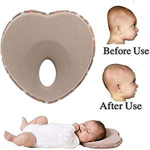 Zhouxt Baby Head Shaping Pillow, 2019 Infant Anti Roll Pillow Shape Toddler Sleeping Positioner Cushion Flat Head Protect Newborn Baby Bedding