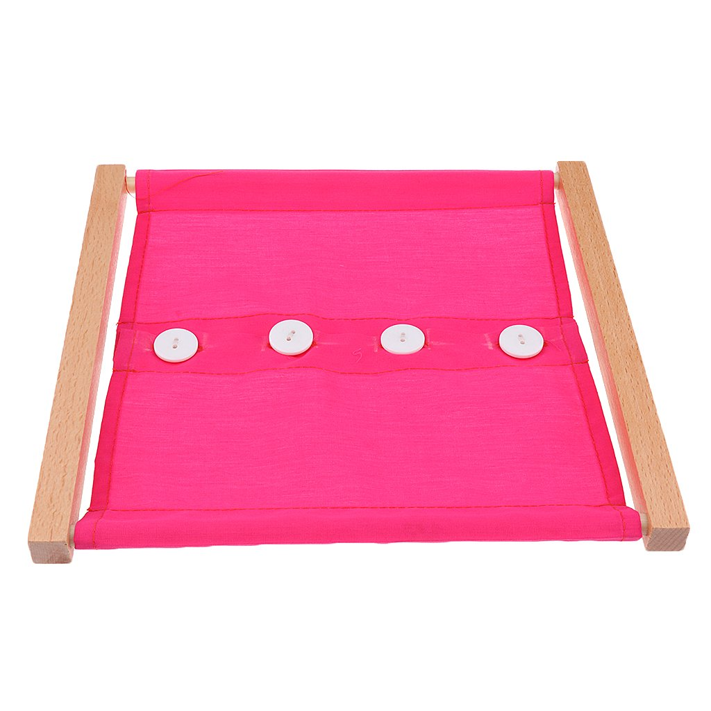 B Baosity Montessori Materials Learning /& Education Game Daily Life V/êtements Box Toys Bouton