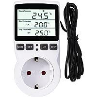 RUIZHI Digital Termostato Regulador de Temperatura Controlador Calefacción Refrigeración Termostato con Temporizador y…