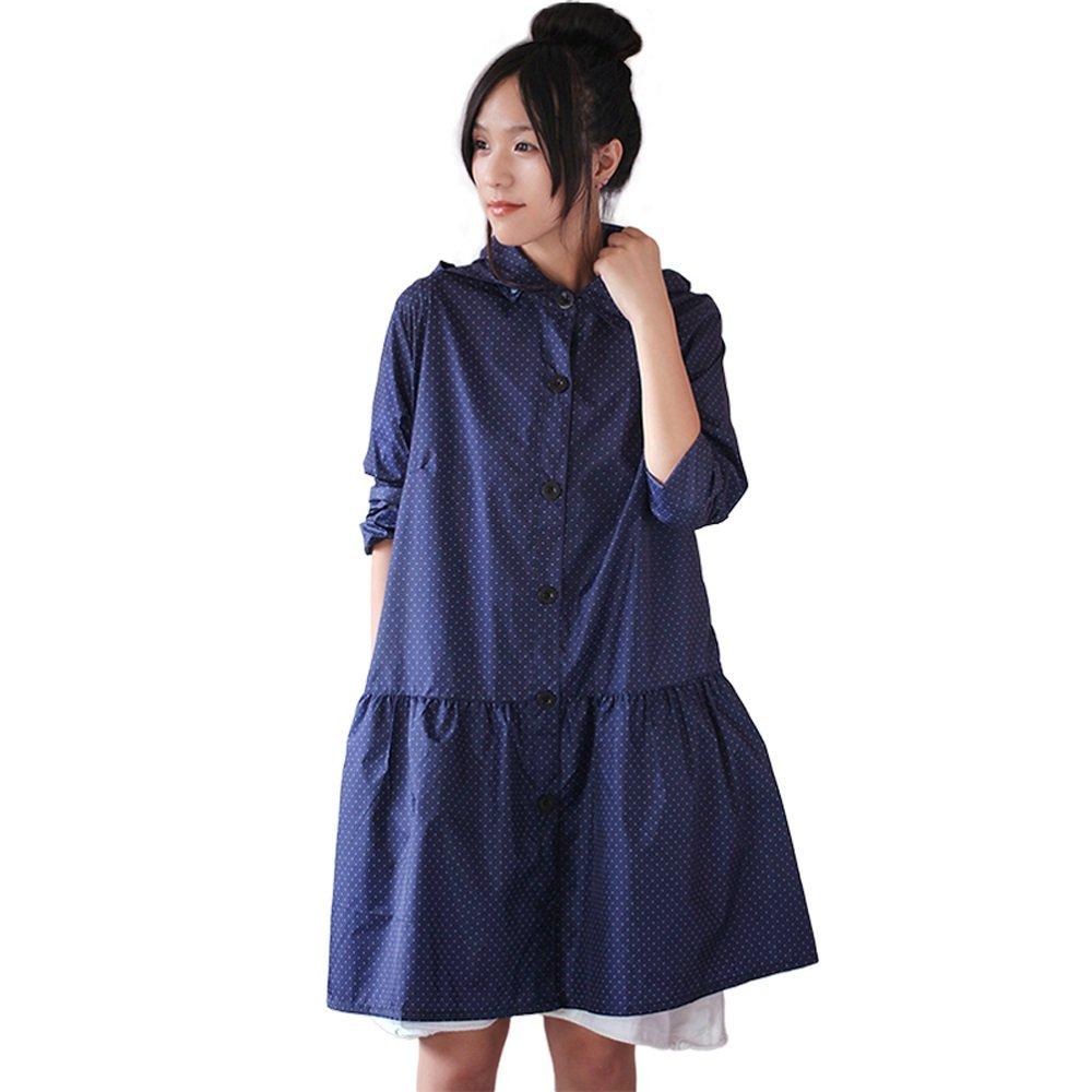 XING-ZI-raincoat C-K-P Erwachsener mit Kapuze Regenmantel Outdoor Wandern Reisen Camping Poncho Größe (M) Blau