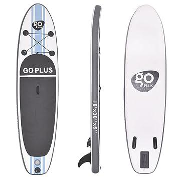 mit Pumpe Paddel und Rucksack GOPLUS SUP Paddelboard aufblasbares Surfboard Stand Up Paddel Board Set Surfbrett