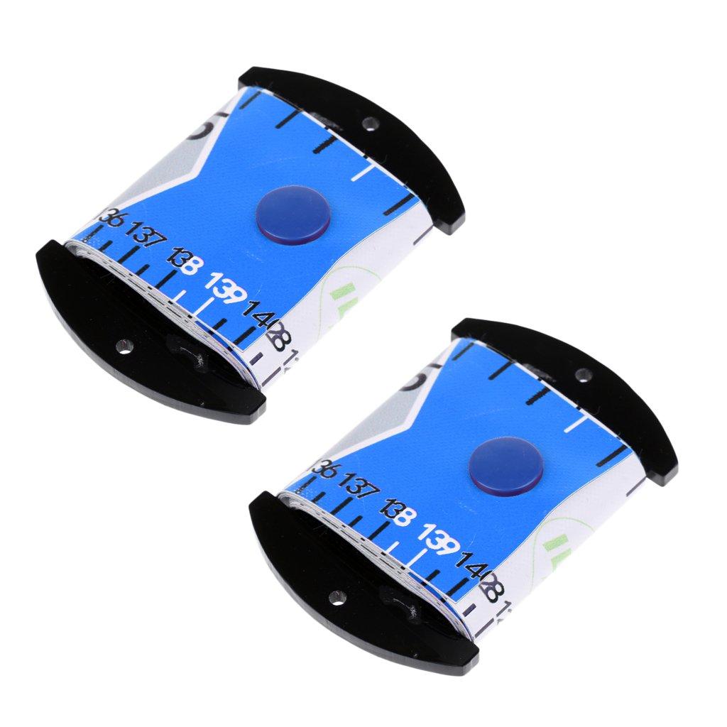 SM SunniMix 2Pcs Fishing Ruler Scale Fish Measurement Accurate Soft Tape Measure Tackle Blue