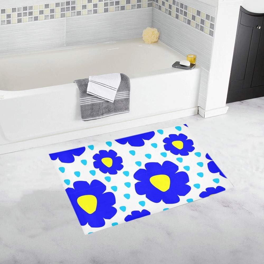 Amazon Com Soft Non Slip Xl Bathroom Shower Mat Shapes Form Paper Style Blue Bath Rug Girls Cartoon Bath Mat Absorbent Microfiber Bath Mat Best Machine Wash 20x32inch Kitchen Dining