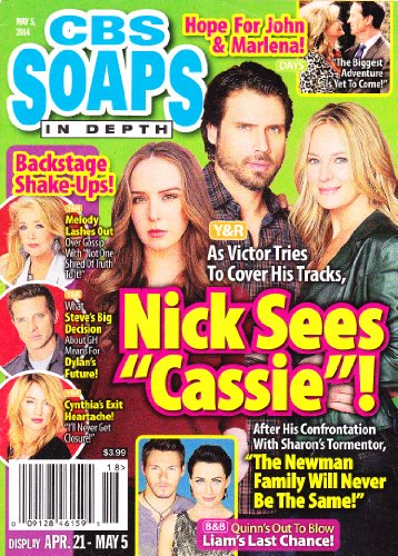 Camryn Grimes, Joshua Morrow, Sharon Case, Young and the Restless, Melody Thomas Scott, Cynthia Watros, Cady McClain - May 5, 2014 CBS Soaps in Depth Magazine [SOAP OPERA]