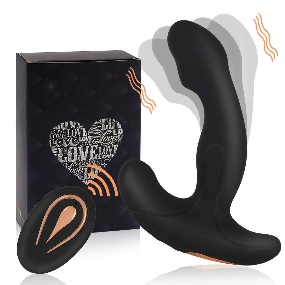 yarlung Remote Control Vibrating Prostate Massager with 2 Powerful Motors and 12 Mode Vibration for Women and Men, Unisex Anal and G Spot Sex Toy