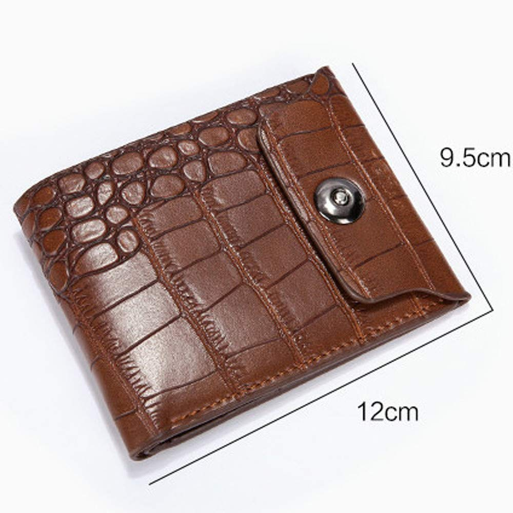 Botrong Men Leather Clutch Pockets Wallet ID Bifold Business Credit Mens Wallet