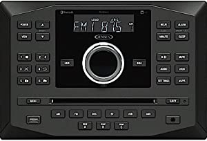 Jensen JWM60A AM|FM|DVD|CD|USB|AUX|App Ready Bluetooth Wallmount Stereo with App Control, Plays: CD, CD-R, CD-RW, DVD, DVD+RW, DVD-RW, MP3, DVD-Video, MPEG-4, VCD, JPEG, CD-DA, MP3, WMA, Dolby