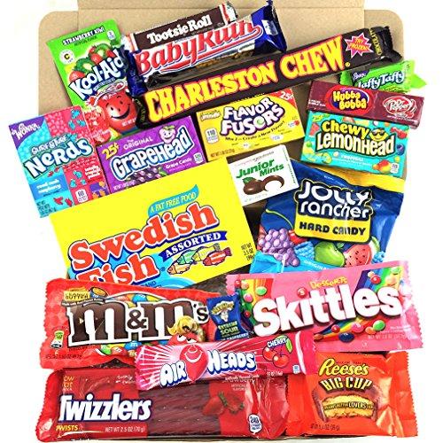 Heavenly Sweets Amerikanischer Süßigkeiten und Schokoladen Geschenkkorb - Version 2 - Medium