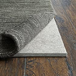 """RUGPADUSA RPC12F-810 Basics 100% Felt Pad, 1/2"""" Available in Multiple Thicknesses, Adds Cushion Protection Under Rugs, Safe for All Floors and Finishes, Made in The USA, 8'x10', Grey"""