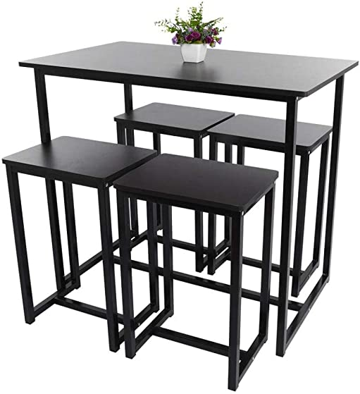 5-Piece Wood Dining Table and Chair Set