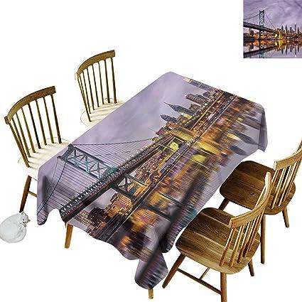 c48300df2c Amazon.com: Tim1Beve Fashions Rectangular Table Cloth USA Ben ...