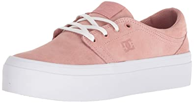 DC Womens Trase Platform LE Skate Shoe, Peach Parfait, 5 Medium US