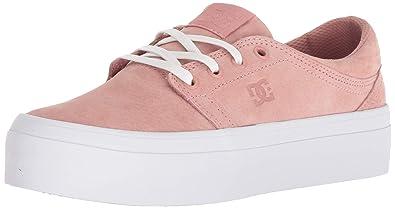 302d5ac0a0 DC Women's Trase Platform LE Skate Shoe, Peach Parfait, 5 Medium US