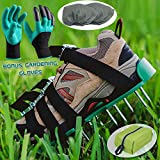 Lawn Aerator Spiked Shoes,Aeration Spike Sandals with 4 Adjustable Heavy Duty Straps with Metal Buckles for Effective Tool for Aerating Lawn Soil and Greener Yard or Garden,One size fits all,Garden Gl