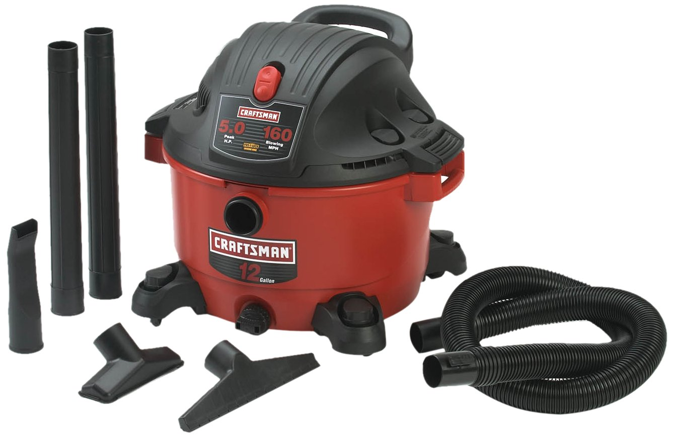 Craftsman 9-17765 12 Gallon 5.0 Peak Horsepower Wet and Dry Vacuum