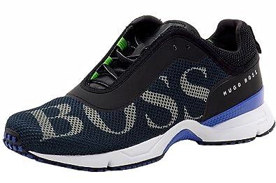ef160f267b8 Hugo Boss Men s Velox Fashion Dark Blue Mesh Sneakers Shoes Sz  10