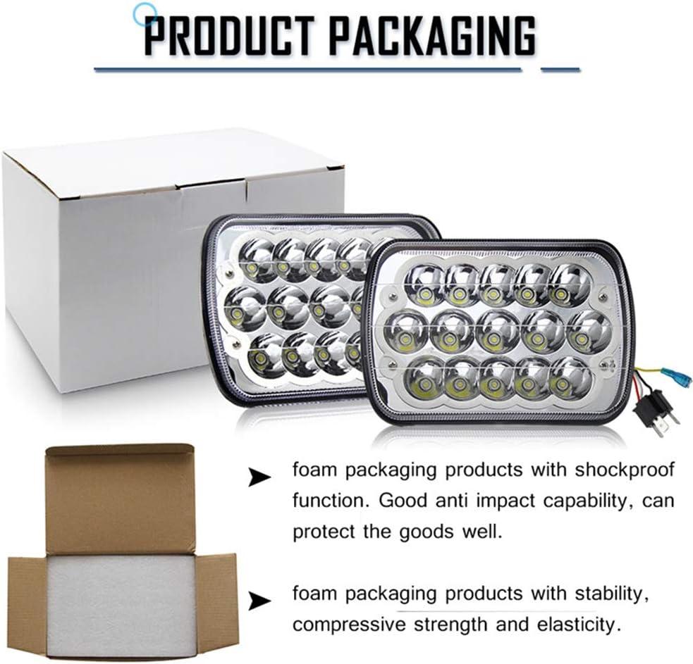 CO LIGHT Pair 7x6 5x7inchs LED Headlights Sealed Beam Hi//Lo H6054 H5054 H6014 69822 6052 6053 for XJ YJ Cherokee E250