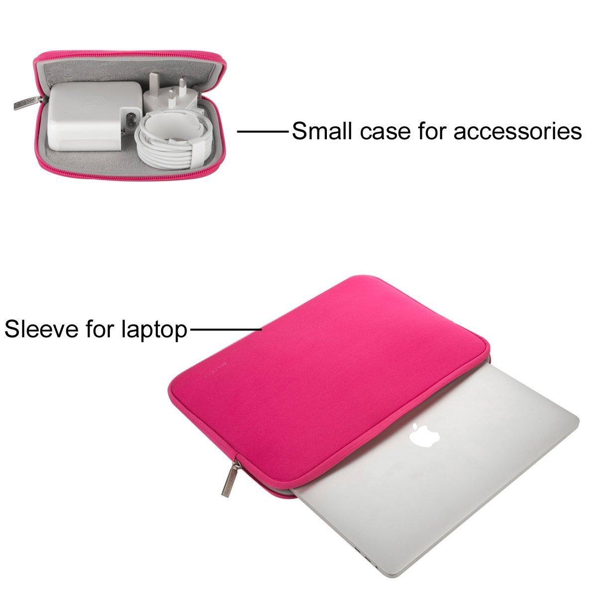 MOSISO Laptop Sleeve Custodia Borsa Compatibile 11-11,6 Pollici MacBook Air,Ultrabook Netbook Tablet,Idrorepellente Neoprene Protettiva Copertura Manicotto Sacchetto con Piccolo Caso,Verde Pavone