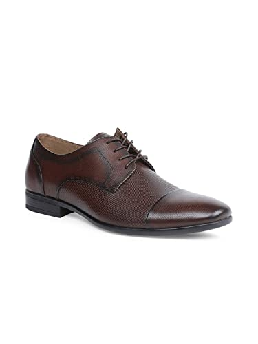 427a5cfda75 Aldo Dark Brown Derby Leather Shoes for Men: Buy Online at Low ...