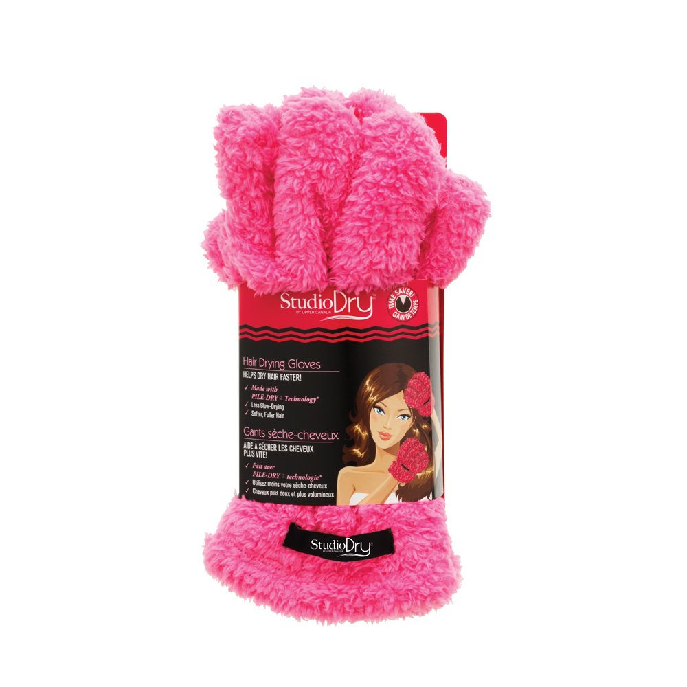Upper Canada Soap Studio Dry Hair Drying Gloves, Pink 816700P