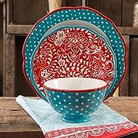 12-Piece The Pioneer Woman Traveling Vines Dinnerware Set