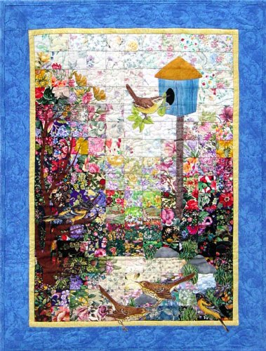 Whims Watercolor Quilt Kits Bird House Quilting Supplies -