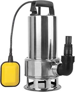 TOPWAY 1.5HP Stainless steel Submersible Clean/Dirty Water Sump Pump Garden Pond with Float Switch
