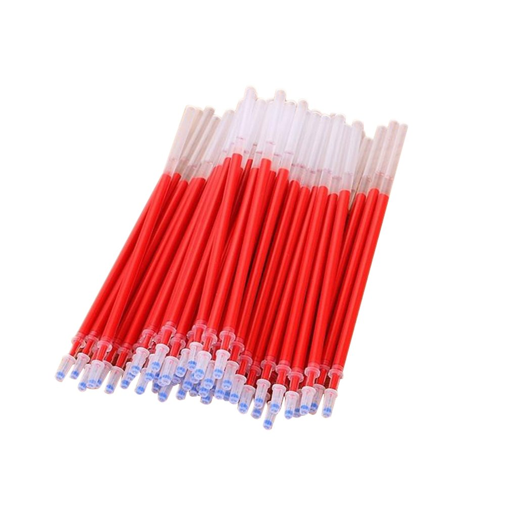 20Pcs penna gel refill Ink ago tubi Penpoint Office School Supplies 0.5  mm taglia unica Red Jiacheng29