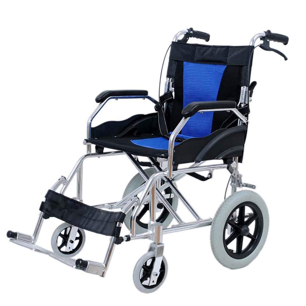 55%以上節約 HSBAIS 医療マニュアル輸送車いす軽量折りたたみ HSBAIS、丈夫で丈夫なアルミニウム合金で簡単に移動できます,blue Seat_18