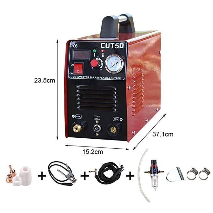 Soldador Inverter Soldadora de electrodo Cortadora eléctrica Portátil del Soldador del Cortador del Plasma de CUT50 AC220V Digital - Matefield: Amazon.es: ...