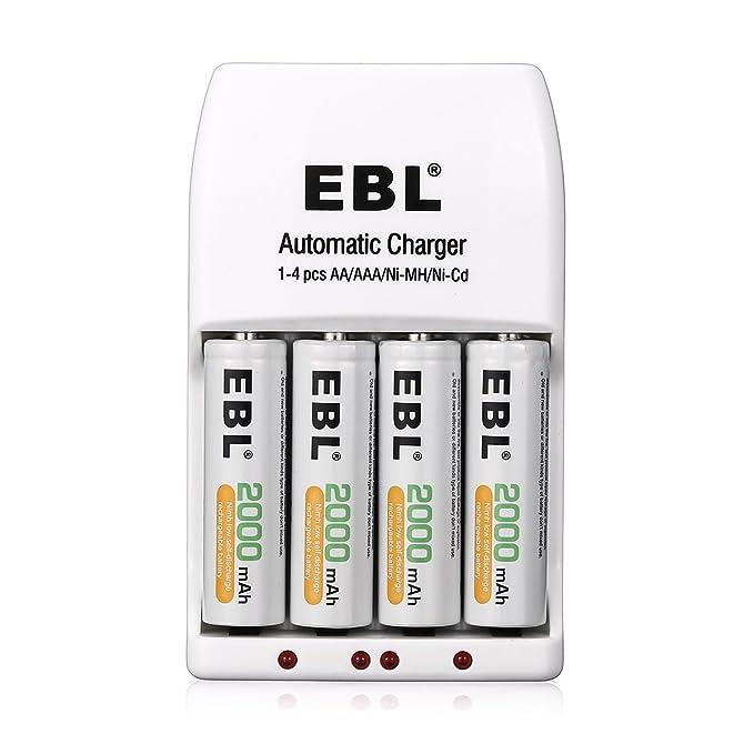 EBL Cargadores con Pilas: Amazon.es: Electrónica