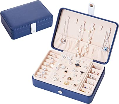 Gift for her. Jewelry leather organizer for travel Earrings and rings storage Personalized Jewelry roll-case