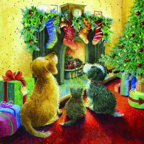 Weihnachtskarte - Twas The Night Before Christmas Otter House
