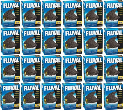 Fluval Carbon 100 gram 72pk nylon bags Media (24x3pk) by Fluval
