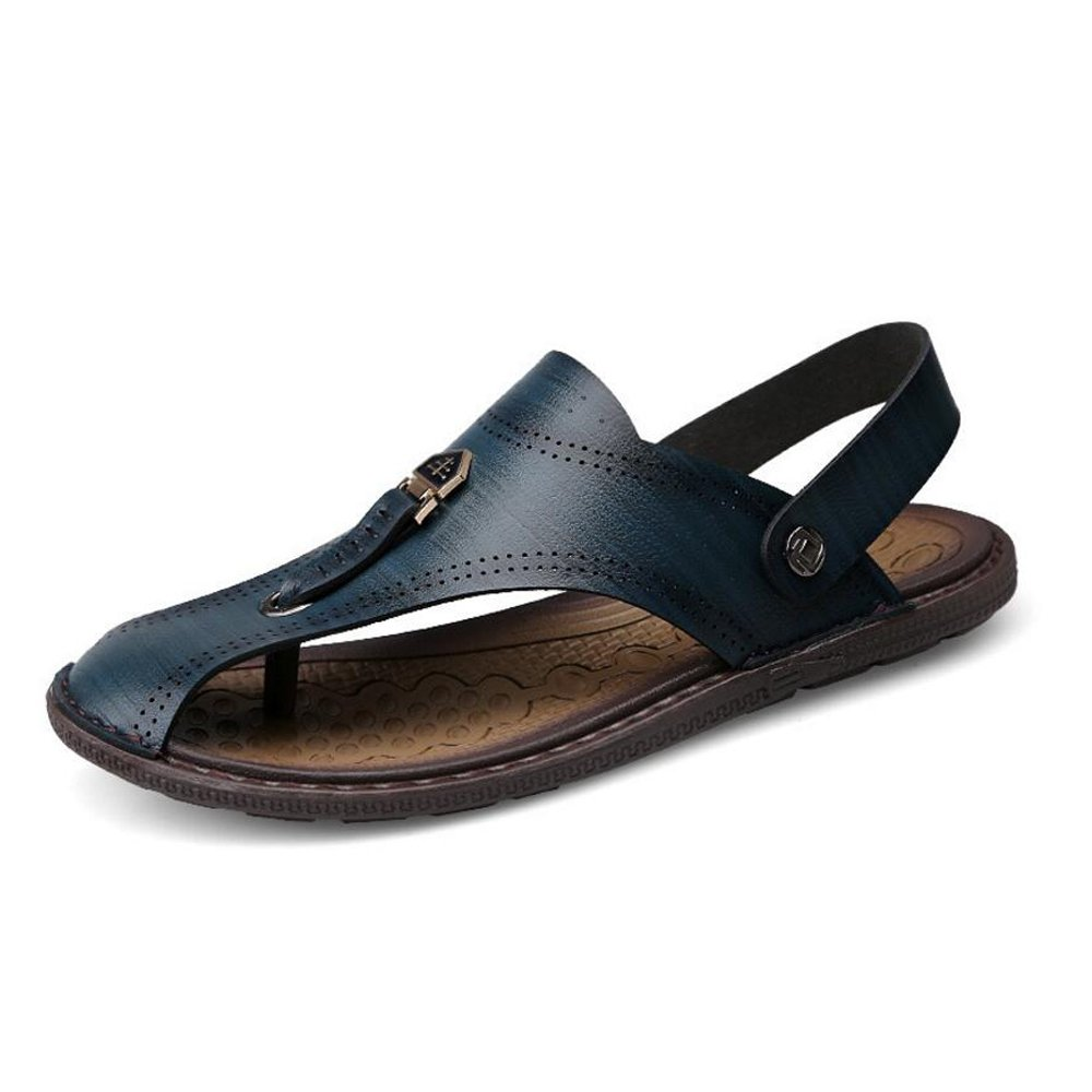 Herren Sommer Sport Sandaleen Leder Closed-Toe Outdoor Sandaleen Trekking Schuhe Atmungsaktive Rutschfeste Herren Strandschuhe