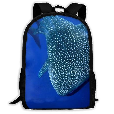 Amazon.com  Cool-custom Backpack for Girls Boys A Whale Shark Zipper ... f90a97b675