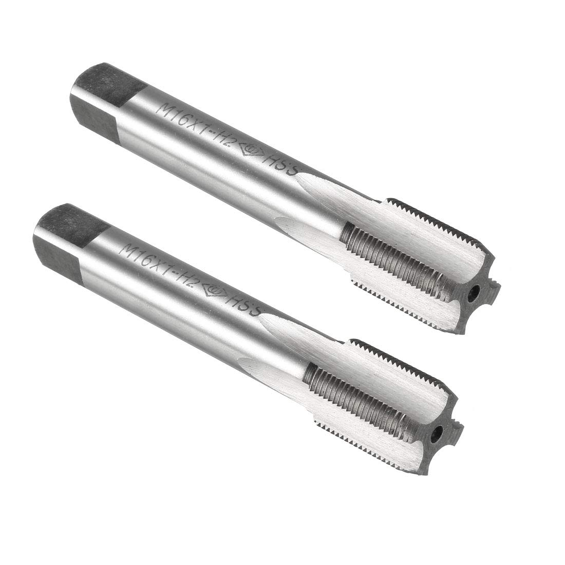 uxcell/® Metric Taps M16 x 1.5mm Pitch H2 Right Hand Thread Plug Tap HSS for Threading Machine Electric Drill DIY