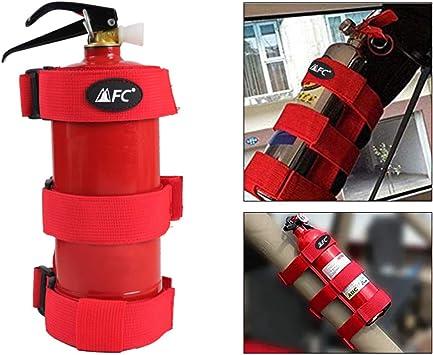 Fire Extinguisher Holder Adjustable Roll Bar Mounted for Jeep Wrangler Red
