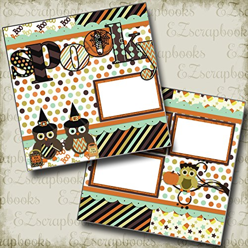 Spooky Halloween - Premade Scrapbook Pages - EZ Layout 482 for $<!--$4.99-->